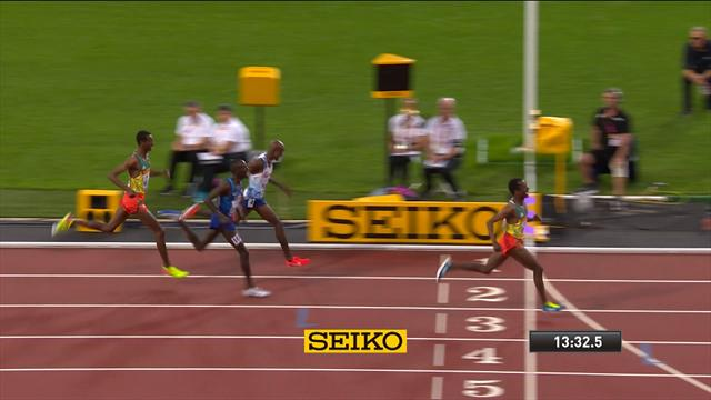 L'ultime effort de Farah est resté vain : le final du 5000m