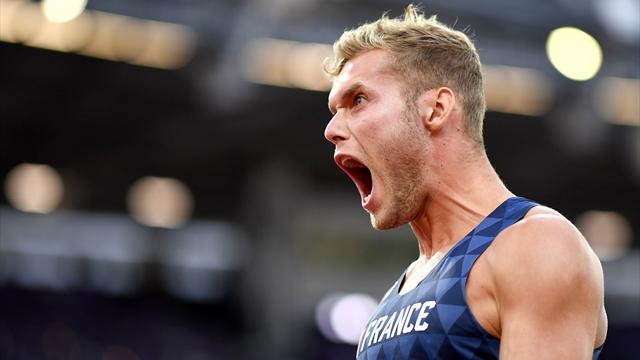 Mayer survives pole vault jitters to win decathlon