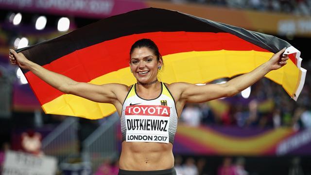 """Medaille für Deutschland! """"PämBäm"""" Dutkiewicz holt Bronze über die Hürden"""