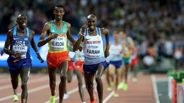 Sir Mo Farah claims silver medal in world 5000 metres