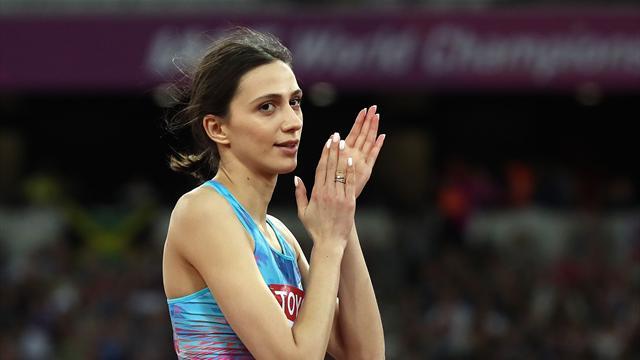 First gold for Russian neutrals as Lasitskene retains high jump title