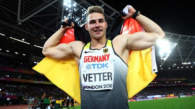 Speerwerfer Vetter wird Weltmeister, Röhler nur Vierter