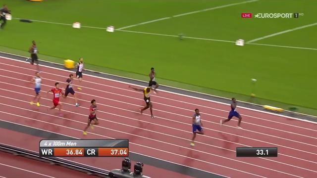 Ecco il momento esatto in cui Bolt crolla a terra durante la finale della 4x100