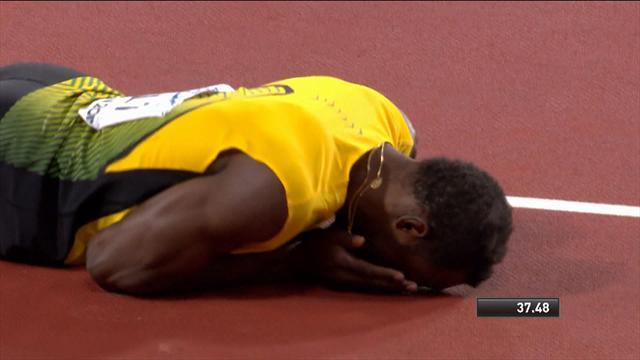 Staffetta 4x100 oro alla Gran Bretagna Stati Uniti secondi infortunio per Bolt