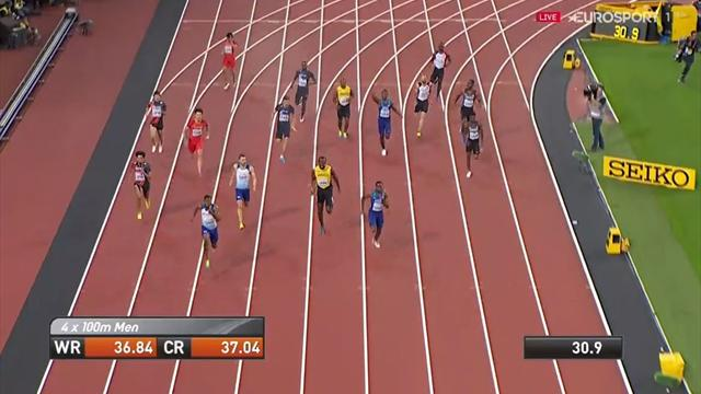 Was für ein Drama! Hier verletzt sich Usain Bolt in seinem letzten Rennen