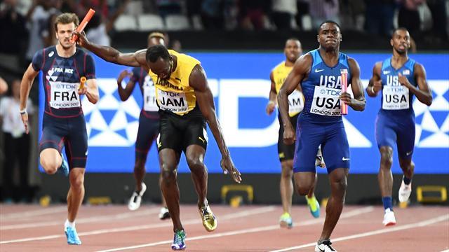 Bolt au sol, les Britanniques titrés, les Français frustrés : ce 4x100m restera dans l'histoire