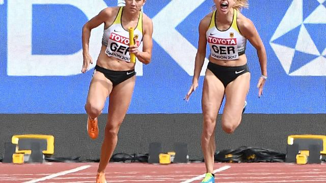 Frauen-Staffel verpasst Bronze über 4x100 m um 17 Hundertstelsekunden