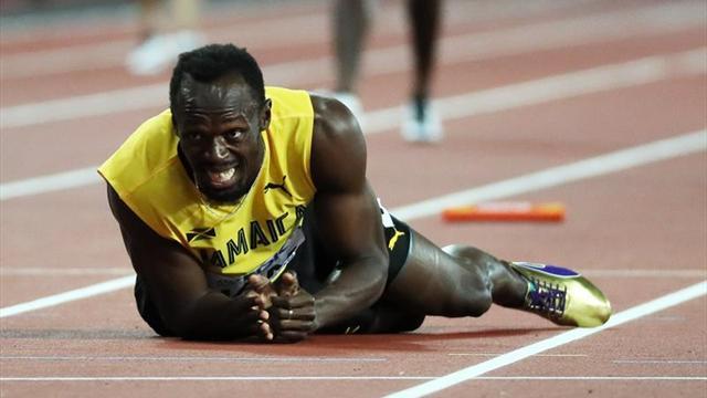 Bolt se lesiona en plena recta durante su última carrera