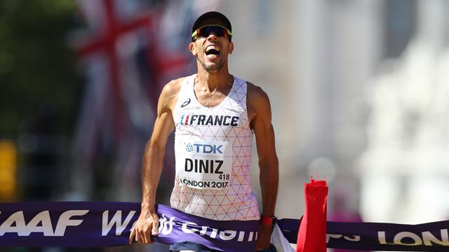 Race walker Diniz becomes oldest world champion at 39