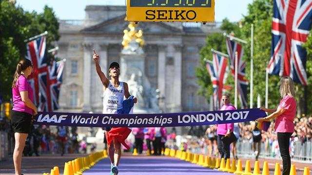 Diniz gana su primer título con el margen más grande de la historia en 50 km marcha