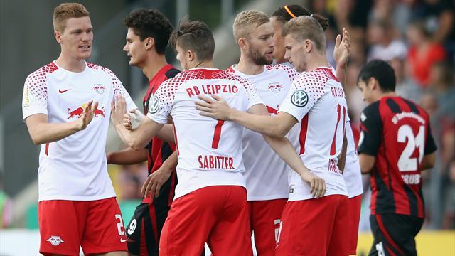 Vizemeister Leipzig spaziert in die zweite Runde