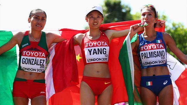 Prima medaglia per l'Italia: bronzo alla Palmisano nella marcia 20 km femminile