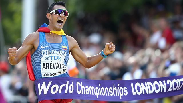 Le Colombien Eider Arevalo sacré sur 20km marche