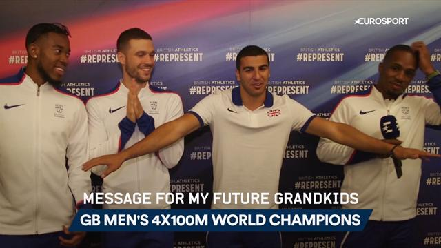 Men's 4x100m relay champions: A message for my future grandkids