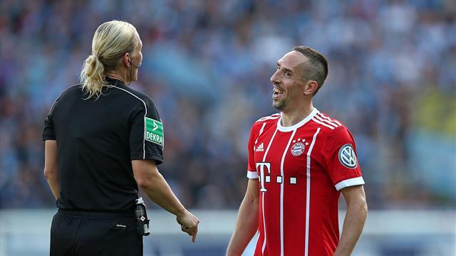 Романтичный отрывок вконце матча Кубка Германии
