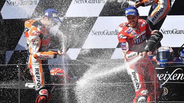 Dovizioso y Márquez protagonistas de un duelo hasta la última curva en Austria