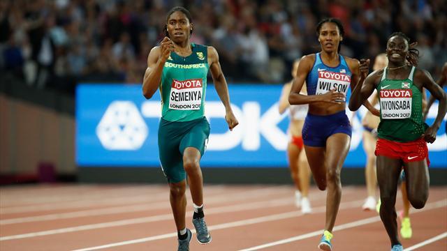 Semenya retrouve son titre mondial du 800 m