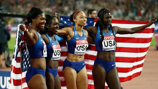 Intouchables, les Américaines offrent une seizième médaille et un record à Felix