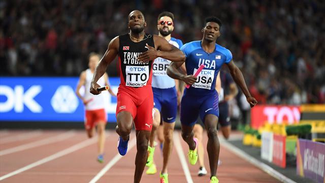 Trinidad & Tobago vince la 4x400 m maschile: USA scoppiati nel finale