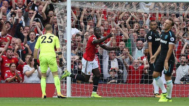 Romelu Lukaku plasma la superioridad del United, que ya es líder