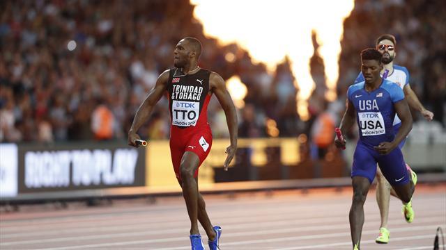 Trinité-et-Tobago surprend les Etats-Unis et s'offre son premier titre sur 4x400