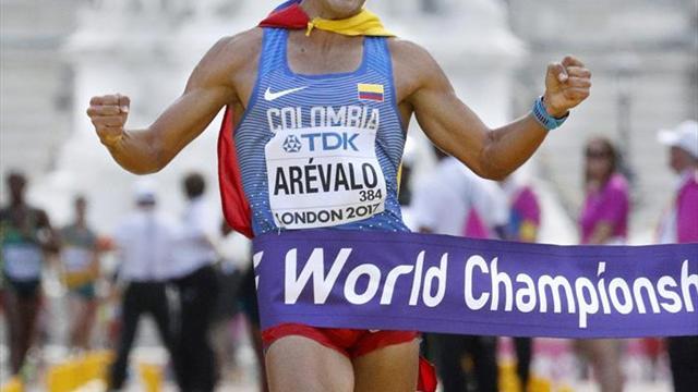 Colombiano Arévalo sucede a Miguel Ángel López como campeón de 20 km marcha