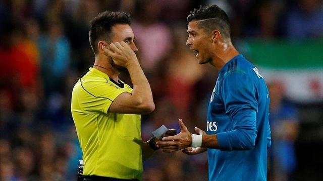 Supercopa de España, la polémica: El colegiado refleja en el acta el empujón de Cristiano Ronaldo