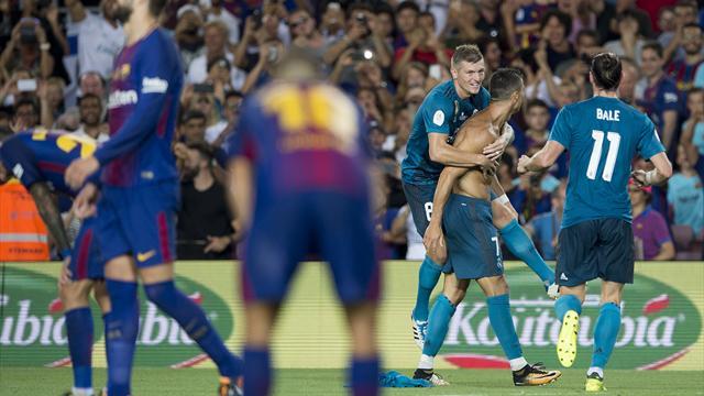 Ronaldo mit Tor und Gelb-Rot: Real Madrid gewinnt Supercup-Hinspiel gegen Barcelona