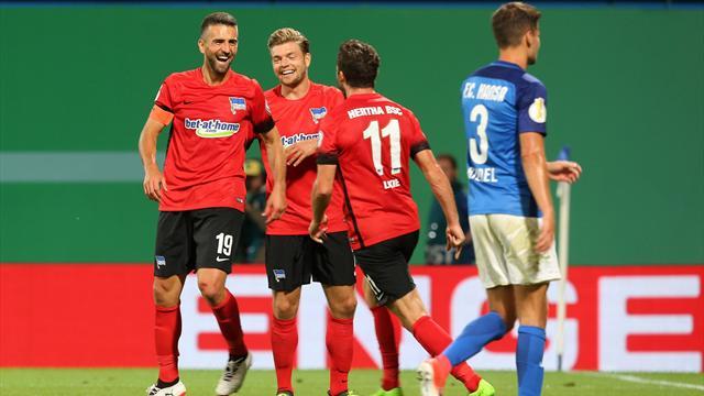 Hertha, Schalke made to sweat in German Cup first round