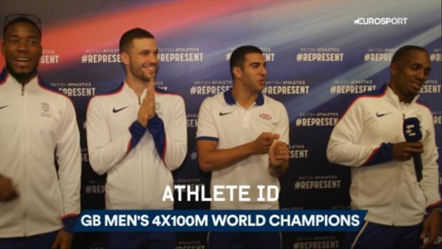 Athlete ID: Britain's 4x100m world champions answer our crazy questions