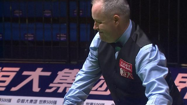 Higgins produces an immaculate break of 129