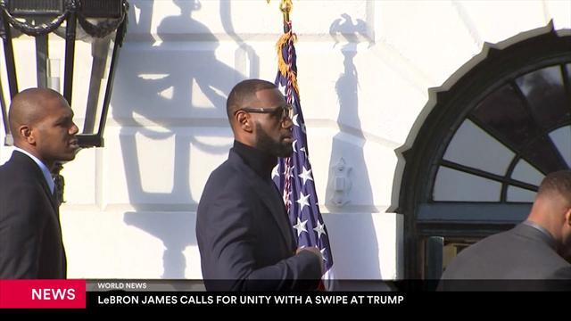 LeBron James takes a swipe at Donald Trump