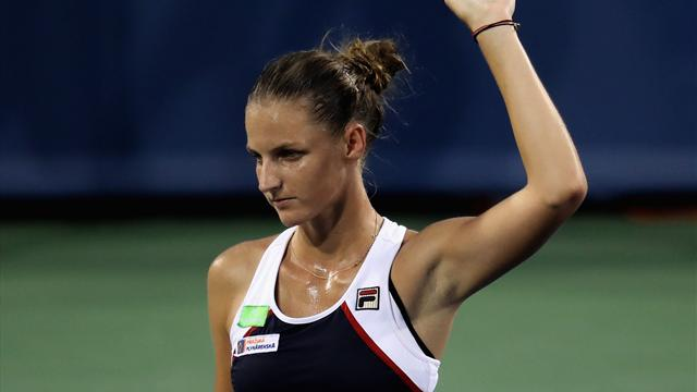 Pliskova on track to defend Cincinnati title, Venus out