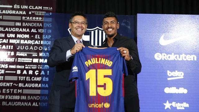 «Барселона» разыграла майку Паулиньо, назвав его неудержимым полузащитником