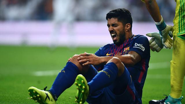 Et pour ne rien arranger, le Barça devra se passer de Suarez pendant un mois