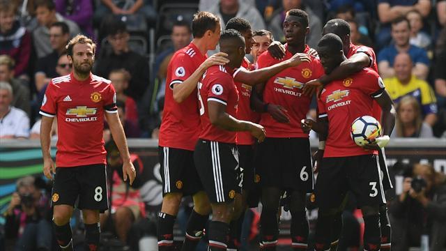 Premier League, Swansea City-Manchester United: Madera de líder (0-4)
