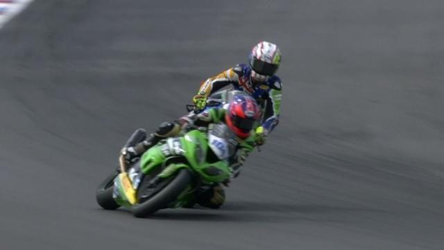Rider's fury after Supersport crash