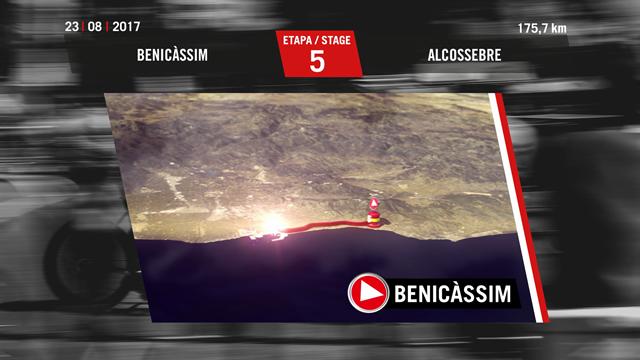 Vuelta 2017, Tappa 5, Benicassim-Ermita Santa Lucia: percorso e altimetria