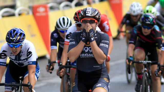 Chloe Hosking prevails as bridge opening affects Ladies Tour of Norway
