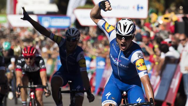 Yves Lampaert gana segunda etapa de la Vuelta a España