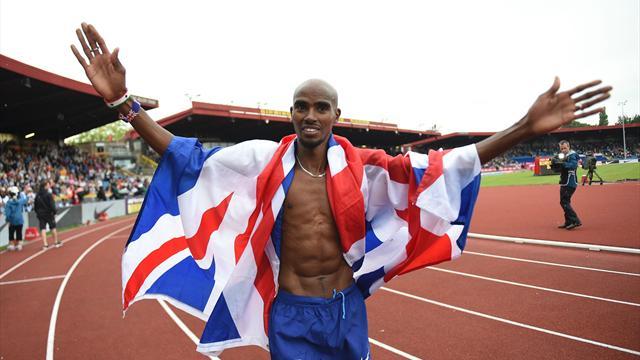 Mo Farah wins on British track farewell