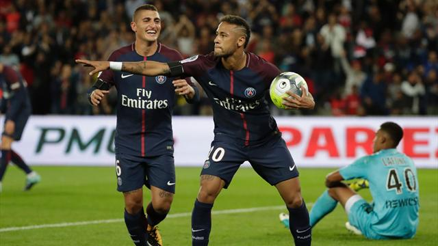 Neymar scores twice on home debut as PSG run riot