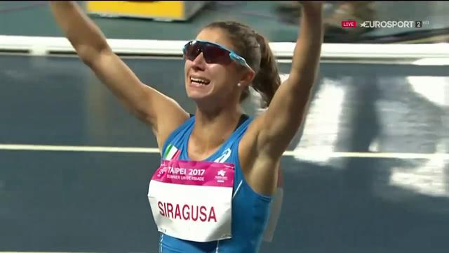 Irene Siragusa, argento e lacrime di gioia nei 100 metri a Taipei