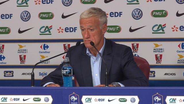 "Deschamps : ""Giroud a un vécu plus important que Lacazette en sélection"""
