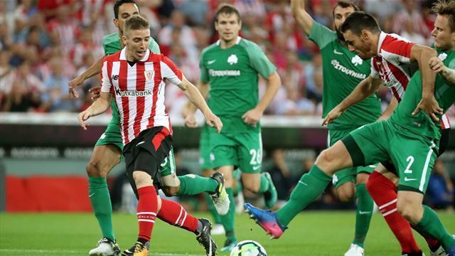 El Athletic supera al Panathinaikos y certifica su pase a la fase de grupos (1-0, global 4-2)