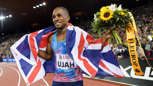 Ujah beats world champion Gatlin, wins 100m in Zurich