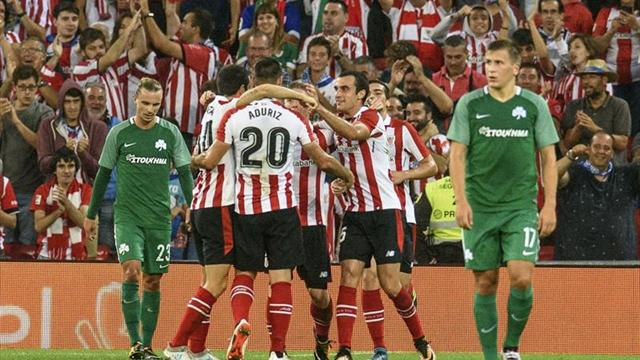 1-0. Aduriz y Muniaín sellan el pase del Athletic a la fase de grupos