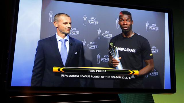 Pogba wins Europa League Player of the Season award