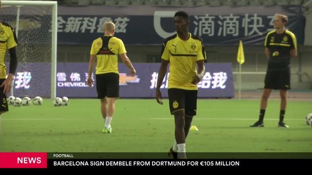 Barcelona agree deal to sign Dembele from Dortmund
