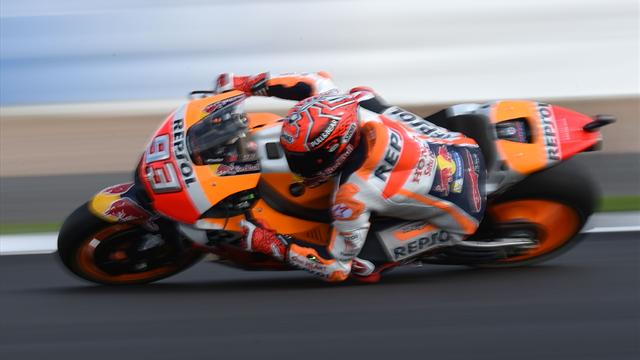 Marquez takes fourth pole in a row at Silverstone